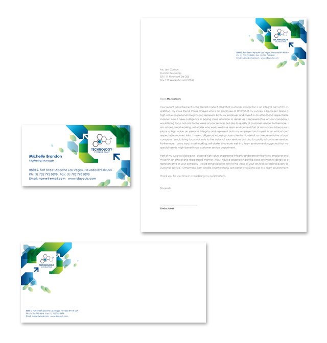 Technology Consulting Stationery Kits Template