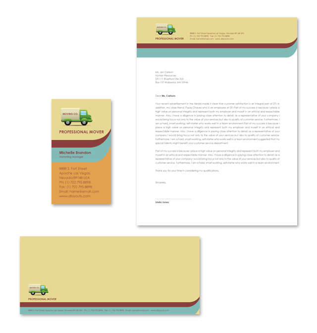 Moving Company Stationery Kits Template