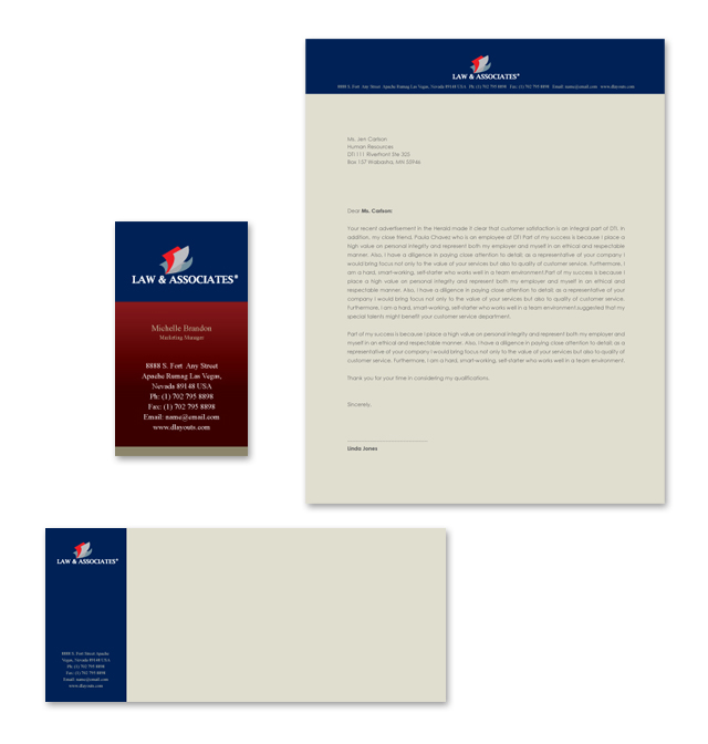 Lawyer & Law Firm Stationery Kits Template