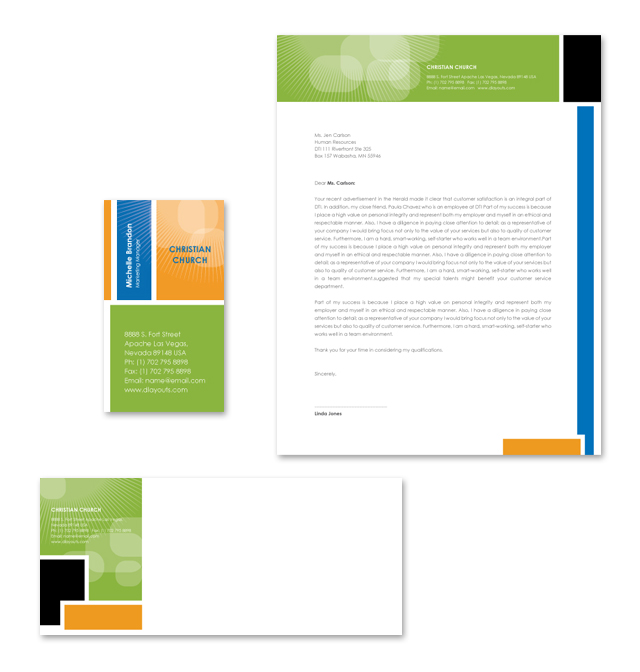 Christian Ministry Stationery Kits Template