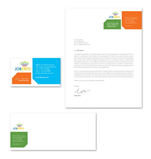 Career Fair Stationery Kits Template