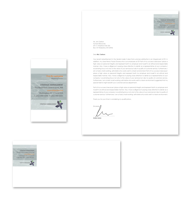 Strategic Management Stationery Kits Template