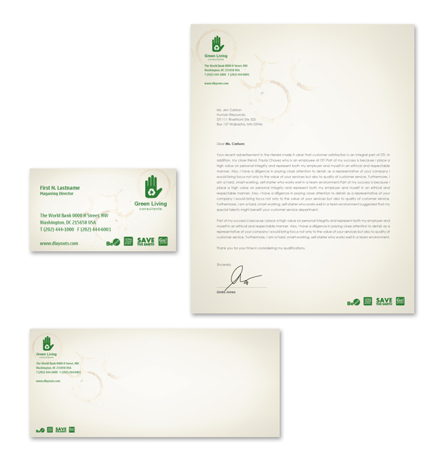 Environmental Groups Stationery Kits Template
