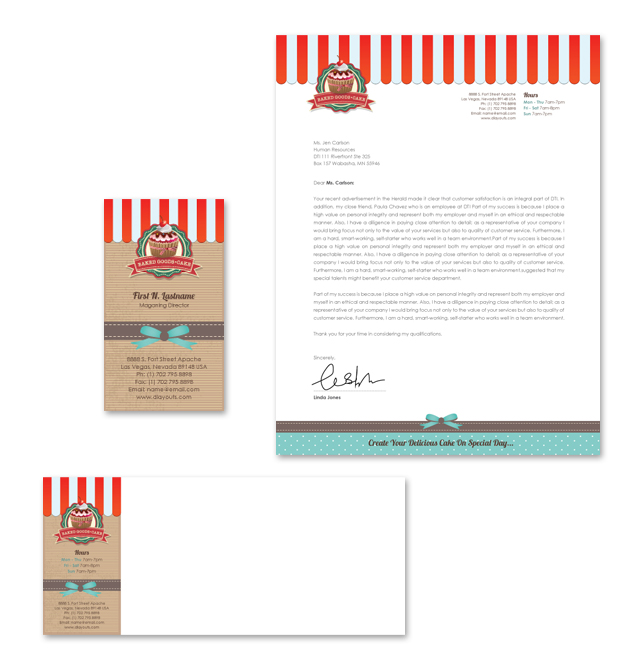 Cakery Stationery Kits Template