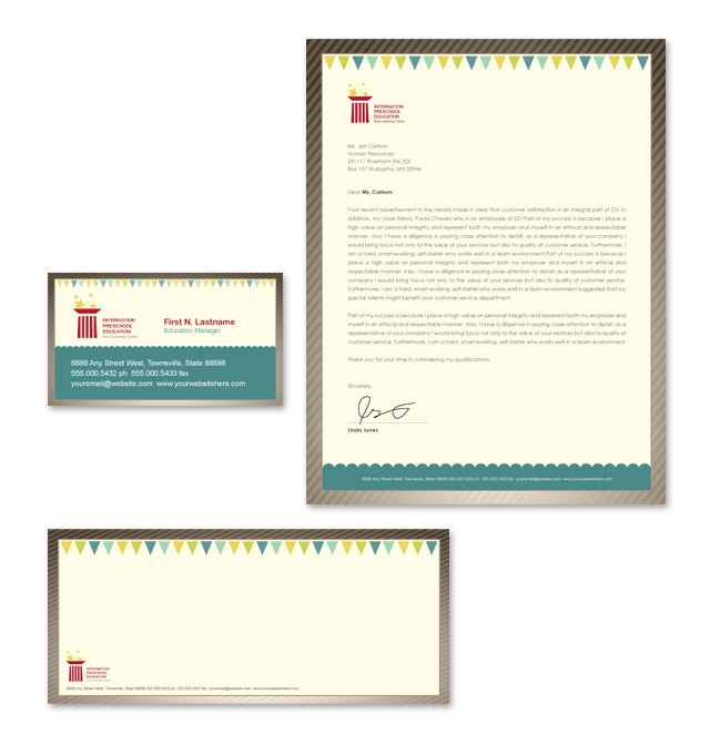 Preschool Education Stationery Kits Template