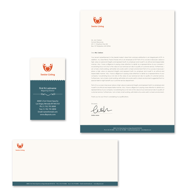 Senior Housing Stationery Kits Template