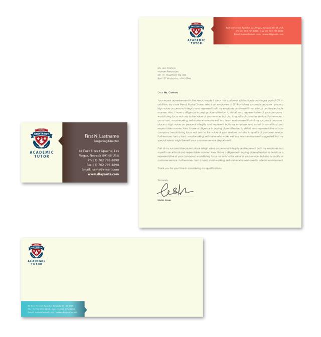 Academic Tutor Stationery Kits Template