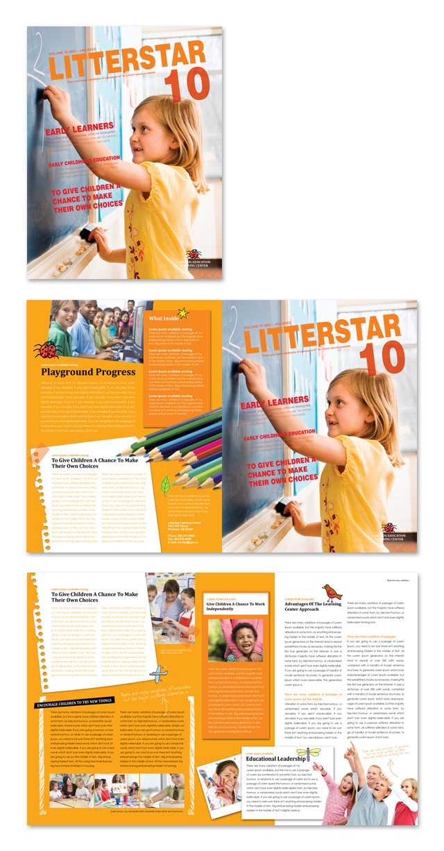 Learning Center Elementary School Newsletter Template Getty