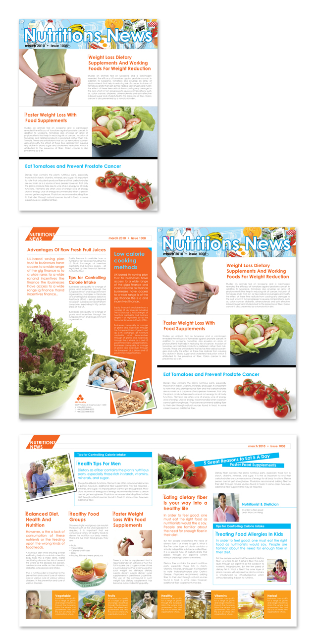 Nutritionist & Dietician Newsletter Template