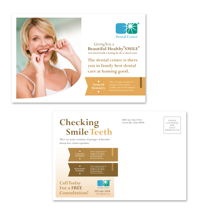 Family Dentistry Postcard Template