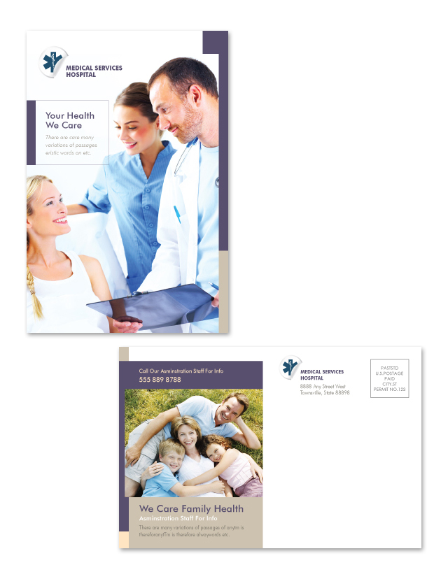 Medical Services Postcard Template