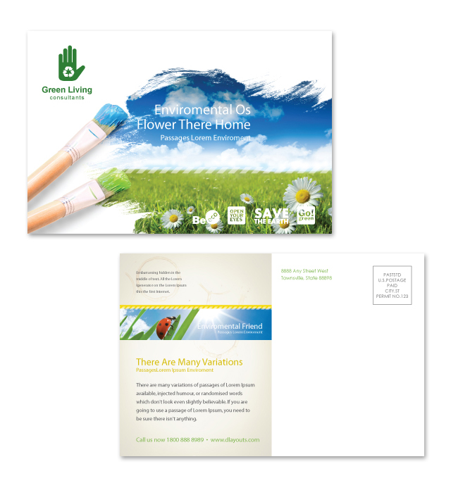 Environmental Groups Postcard Template