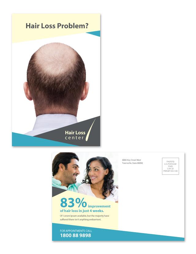 Hair Loss Center Postcard Template