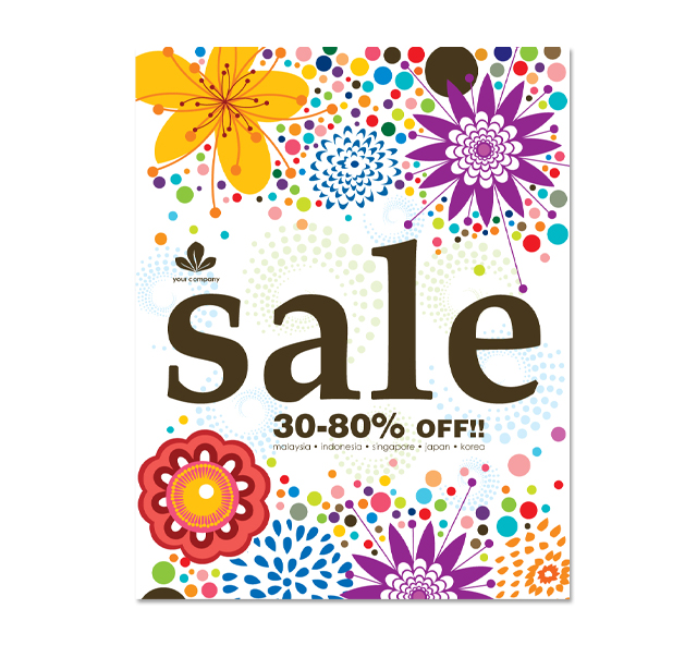 Summer Floral Sale Poster Template