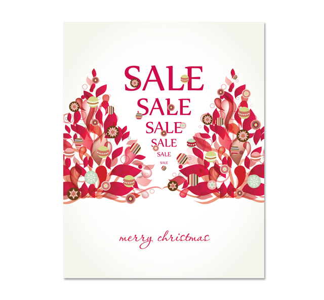 Modern Christmas Tree Sale Poster Template