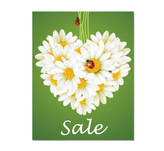 Flower Sale Poster Template