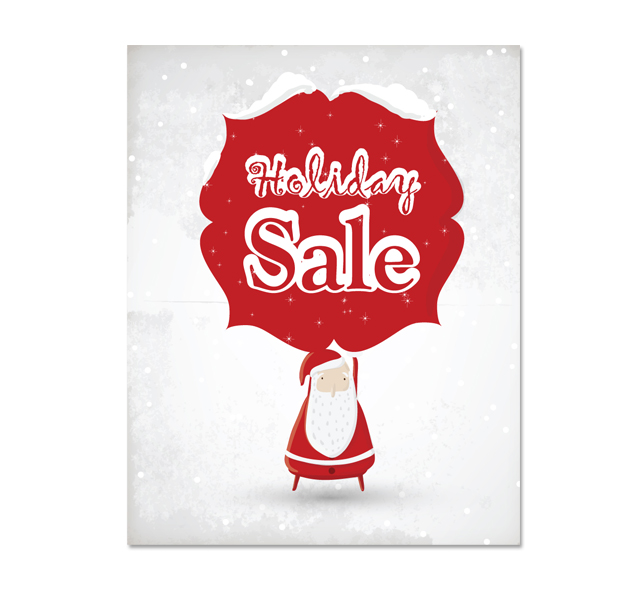 Red Santa Sale Poster Template