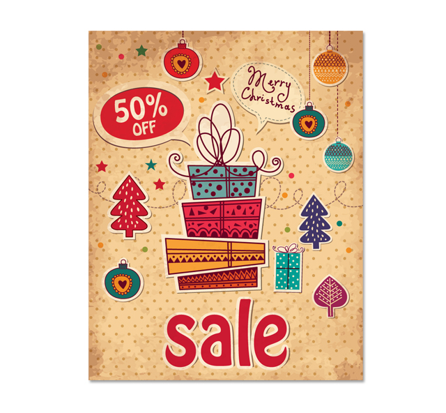 Christmas Gift Sale Poster Template .: Getty Layouts :.