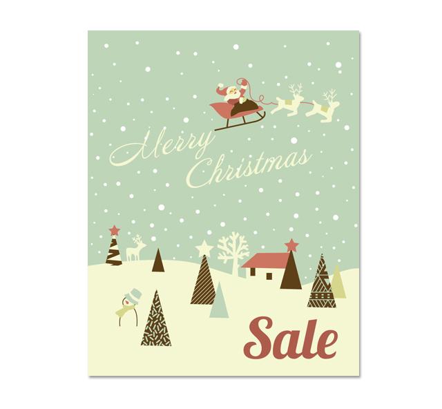 Christmas Deer Sale Poster Template