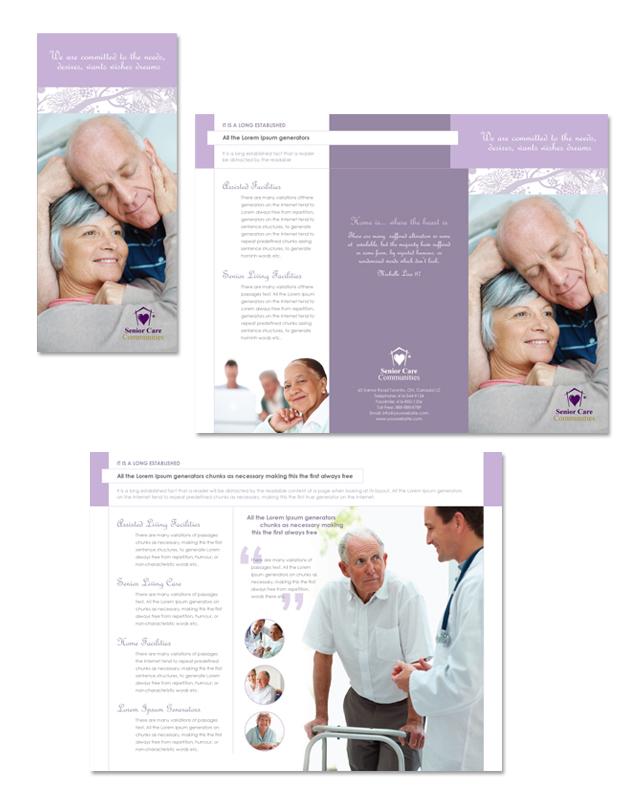 Elder Care & Nursing Home Tri Fold Brochure Template