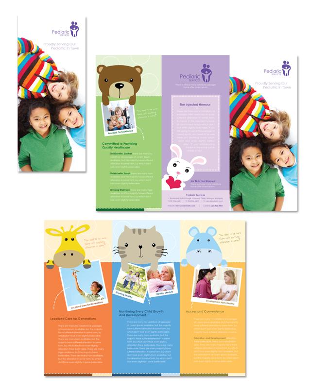 Pediatrician & Child Care Tri Fold Brochure Template