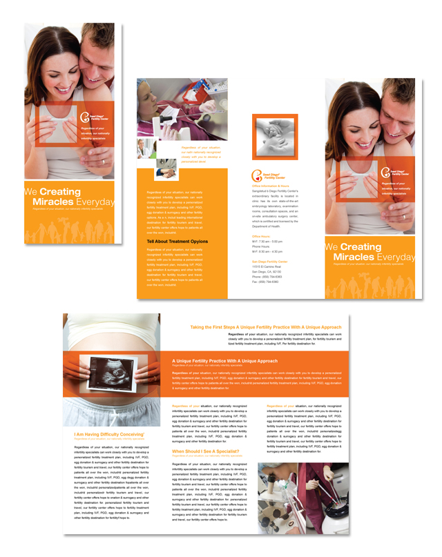 Fertility Center Tri Fold Brochure Template