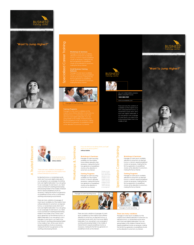 Business Training Center Tri Fold Brochure Template