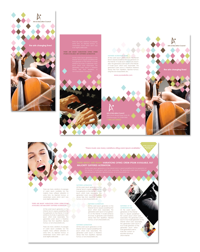 Arts Council & Education Tri Fold Brochure Template