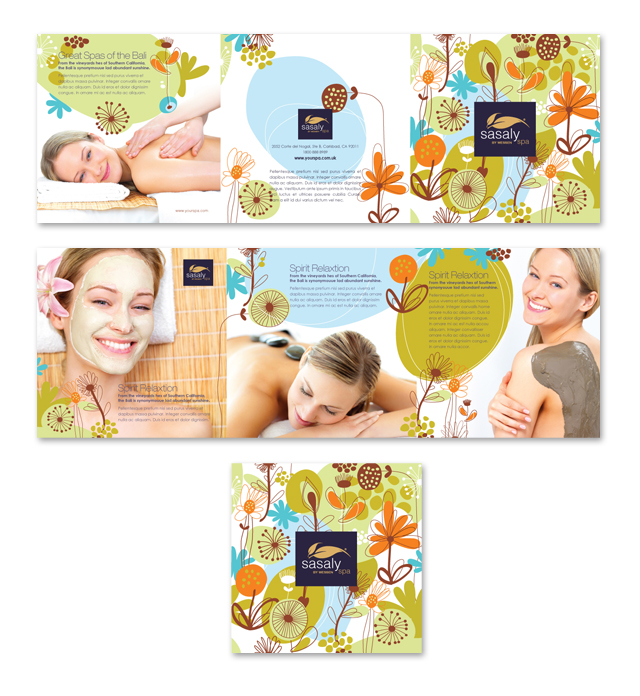 Day Spa & Beauty Salon Tri Fold Brochure Template