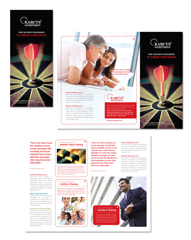 Investment Advisor Tri Fold Brochure Template