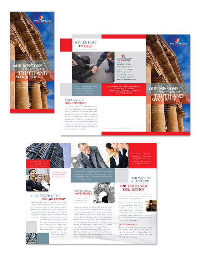 Legal & Government Services Tri Fold Brochure Template