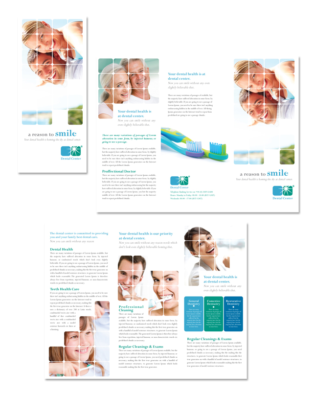 Dentistry & Dental Office Tri Fold Brochure Template