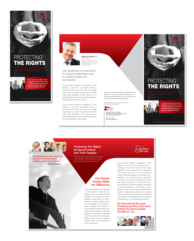 Attorney at Law Tri Fold Brochure Template