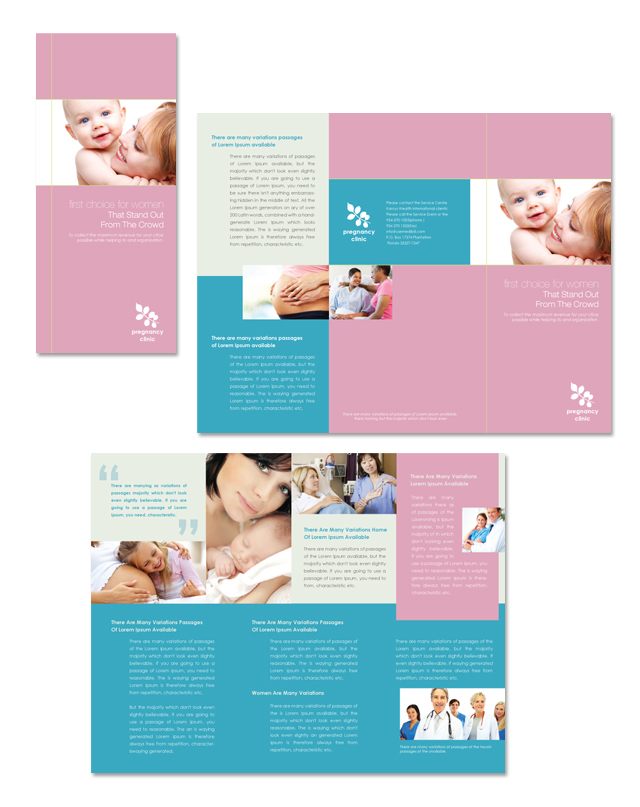 Pregnancy & Childbirth Tri Fold Brochure Template