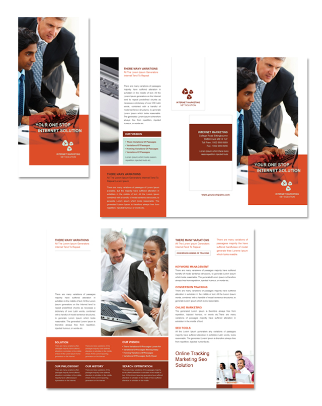 Internet Marketing Tri Fold Brochure Template