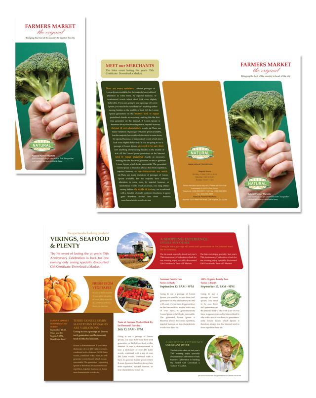 Farmer's Market Tri Fold Brochure Template