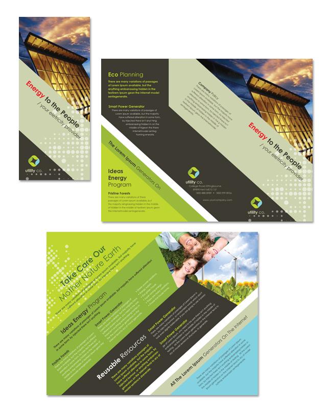 Utility & Energy Company Tri Fold Brochure Template