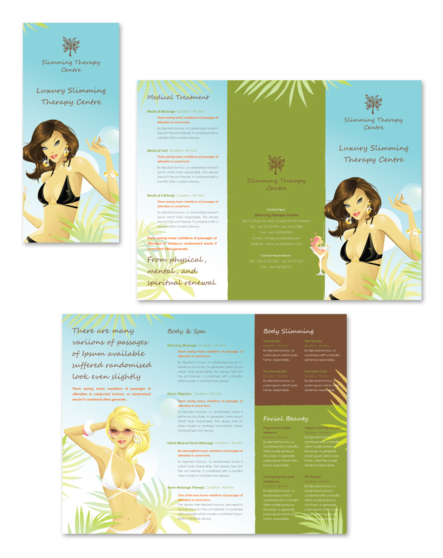 Slimming Therapy Centre Tri Fold Brochure Template