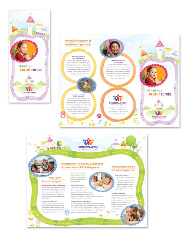Kindergarten Tri Fold Brochure Template