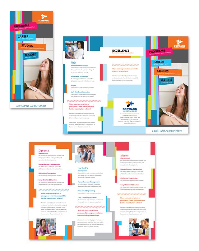 College & University Tri Fold Brochure Template