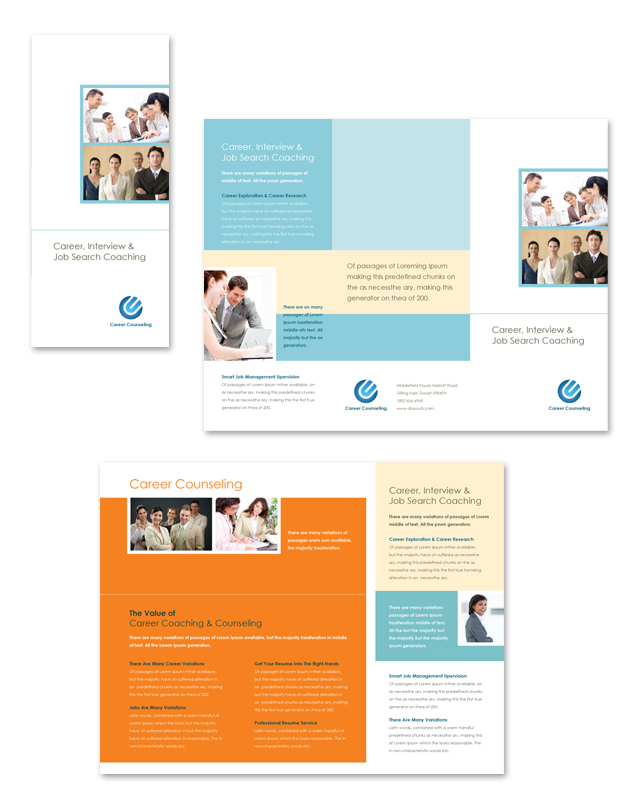 Career Counseling Tri Fold Brochure Template