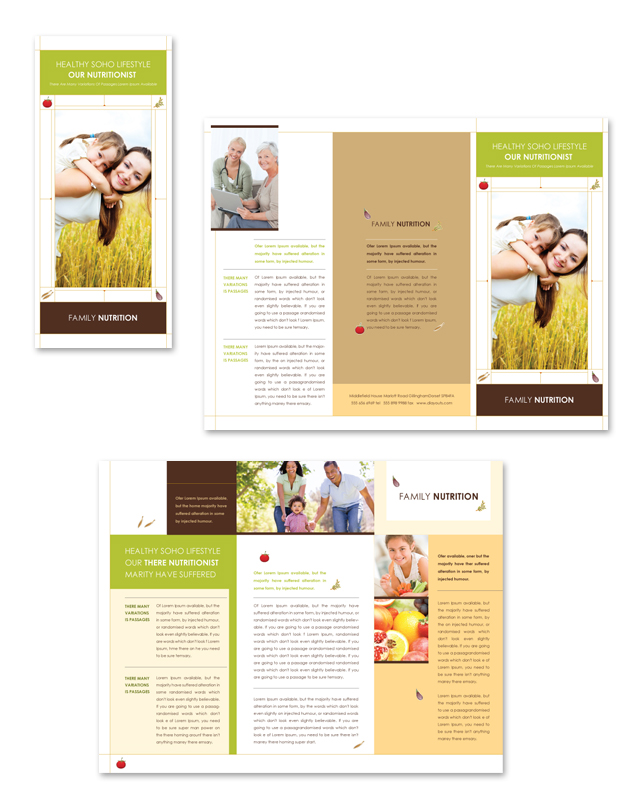 Nutritionist Tri Fold Brochure Template