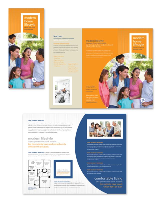 Apartment & Condominium Tri Fold Brochure Template