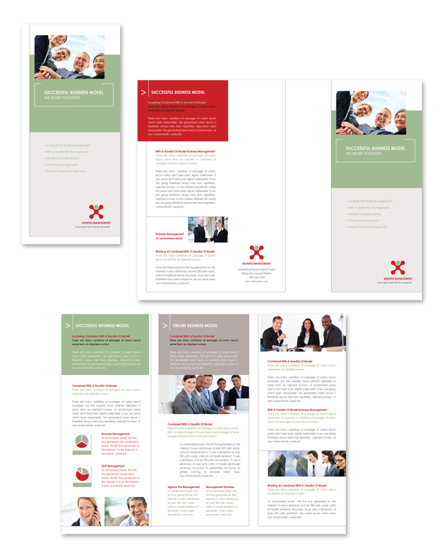 Business Management Tri Fold Brochure Template