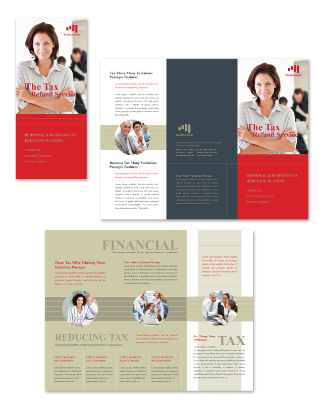 Accounting Tax Services Tri Fold Brochure Template Getty Layouts