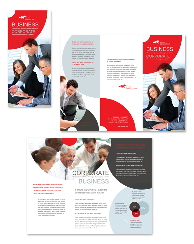 Corporate Business Tri Fold Brochure Template
