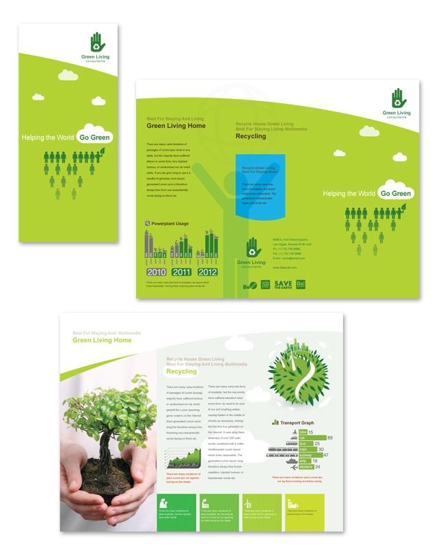 Recycling Tri Fold Brochure Template