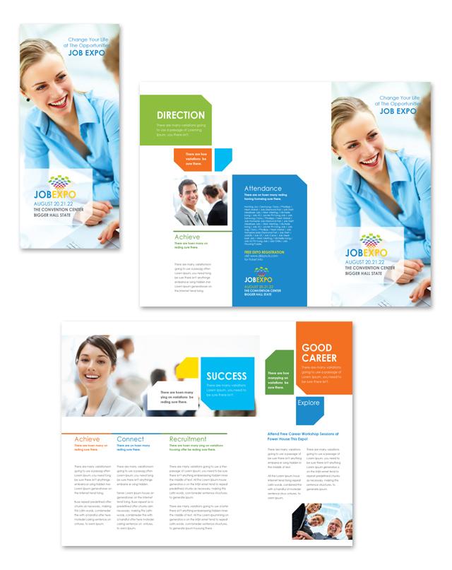 Career Fair Tri Fold Brochure Template