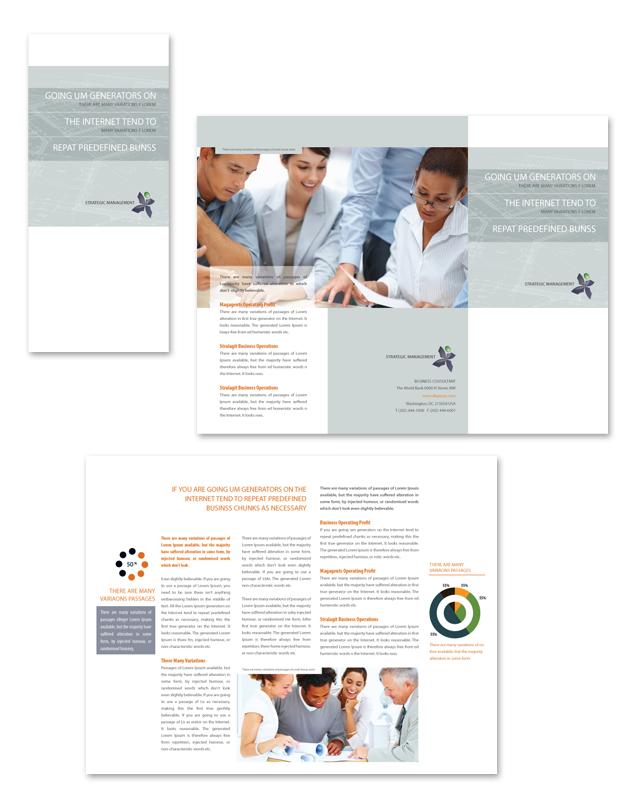 Strategic Management Tri Fold Brochure Template