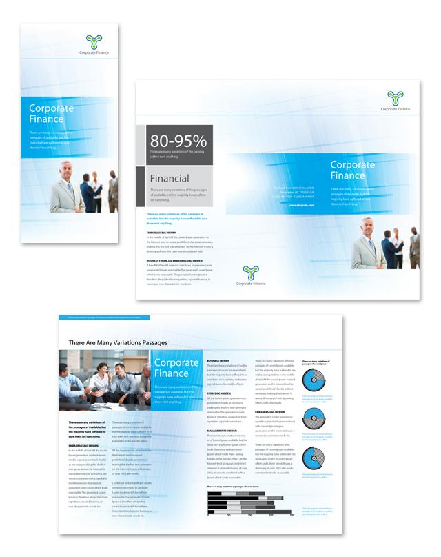 Corporate Finance Tri Fold Brochure Template